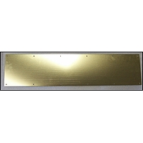Polished Brass Tone Aluminum  Kick Plate
