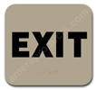 Exit Sign Taupe 2311 Exit sign, ADA Exit sign