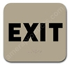 Exit Sign Taupe 2311