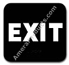 Exit Sign Black 5311 Exit sign, ADA Exit sign