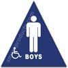 California Title 24 Restroom Sign Boys Handicap Blue 1528