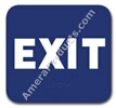 Exit Sign Blue 1511 Exit sign, ADA Exit sign