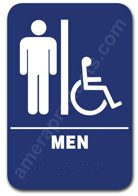 Restroom Sign Men Handicap Blue 1502 Ep 1502