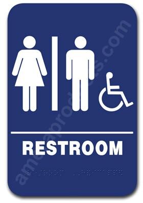 Restroom Sign Unisex Handicap Blue 1506 Ep 1506