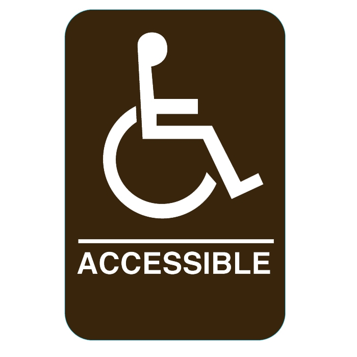 Handicap Sign Brown 3810 Ep 3810