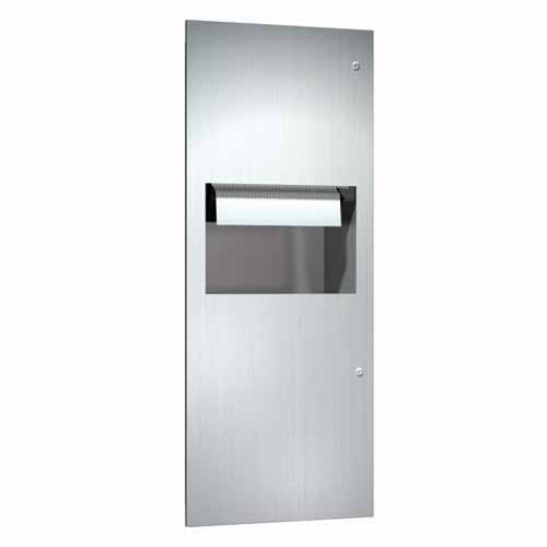 Automatic recessed paper towel dispenser and waste for Automatic paper towel