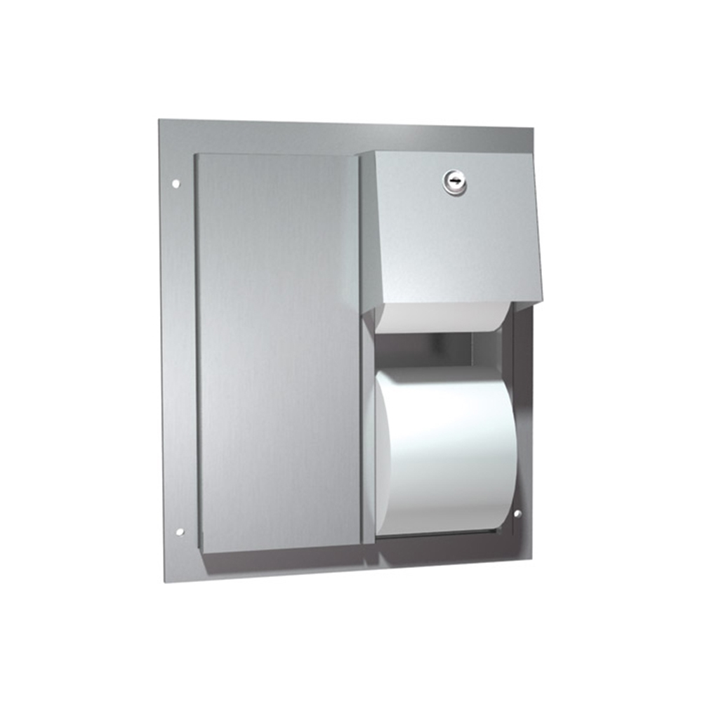 Asi 0032 dual access partition mounted dual roll toilet tissue dispenser stainless steel asi 0032 - Stainless steel toilet paper dispenser ...