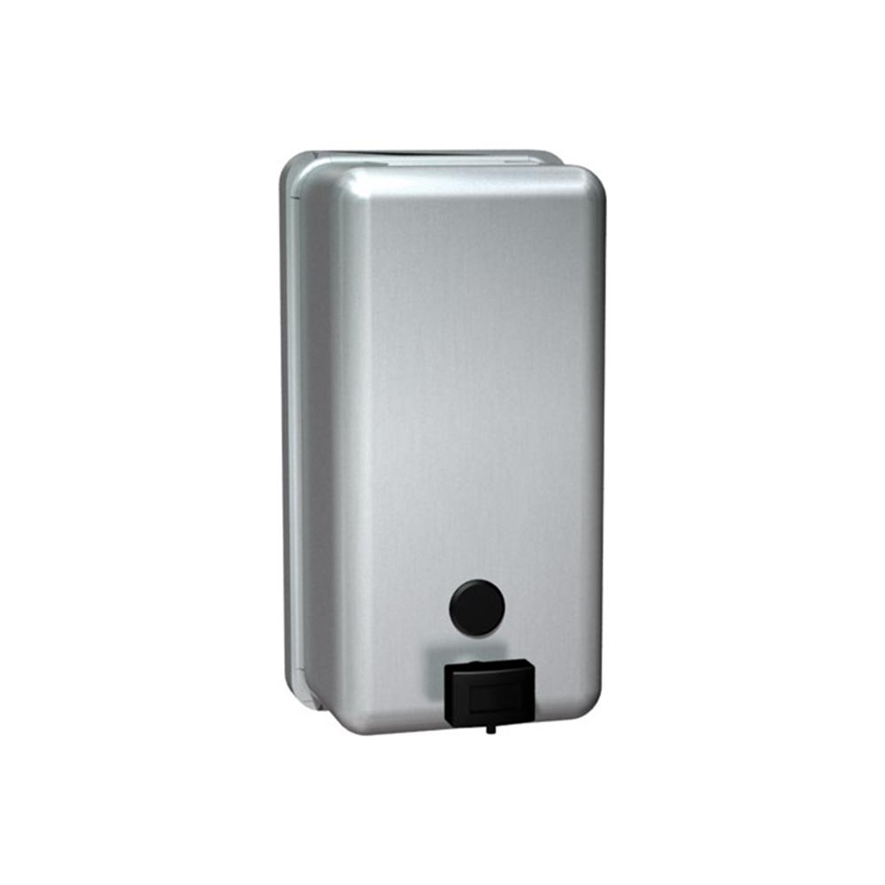 Asi Soap Dispenser ~ Asi vertical surface mounted soap dispenser satin
