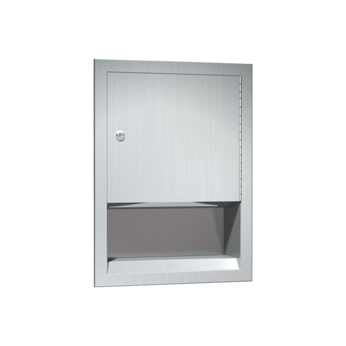 Asi 0457 Stainless Steel Recessed Paper Towel Dispenser