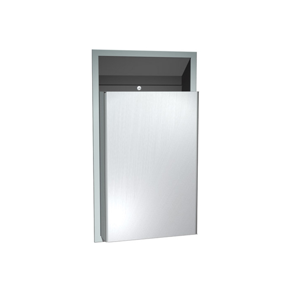 Asi 0458 Stainless Steel Semi Recessed Waste Receptacle