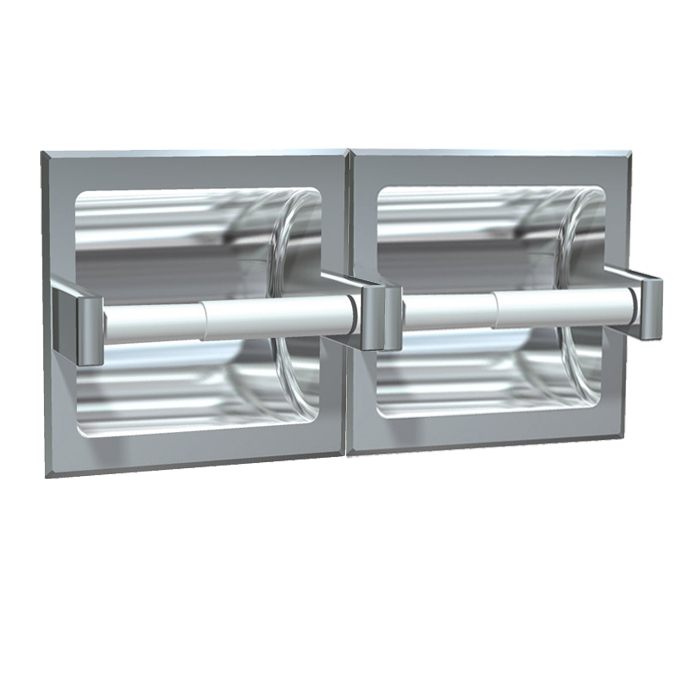 Asi 74022 Sd Satin Stainless Steel Recessed Dual Roll