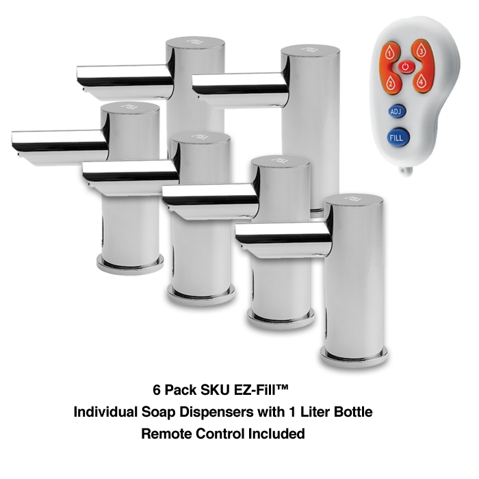 EZ Fill 6 Pack Individual Dispensers
