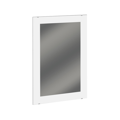 Frosted Frameless Mirror - Solid Border