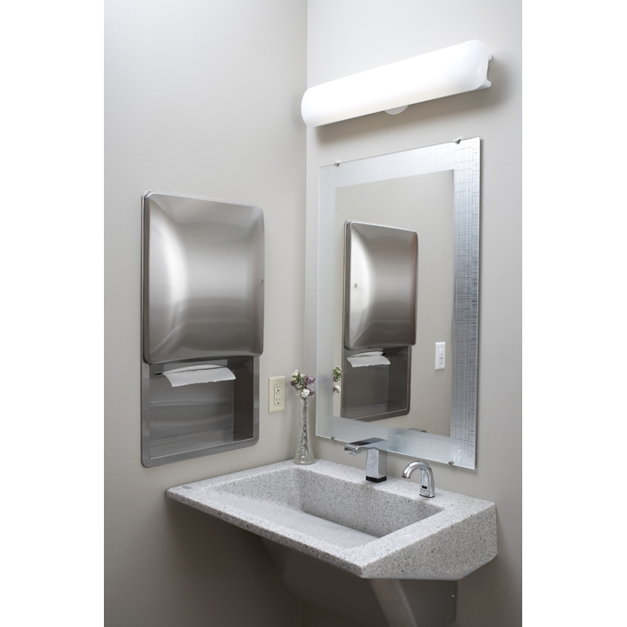 Nice Bradley Mirror #6: ... Frosted Frameless Mirror ...