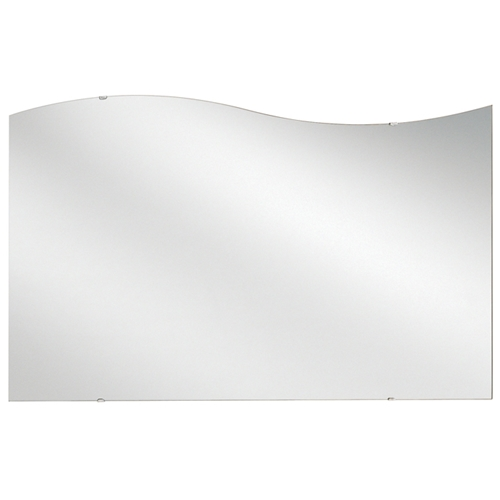 "Frequency Frameless Mirror - 60"" x 36"" High Left Side (H)"