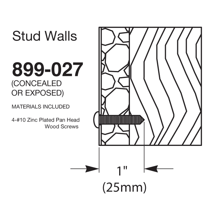 Bradley Mounting Kits for Stud Walls - 899-027