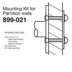 Mounting Kits for Partition Walls