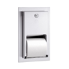 Bradley 5412 Dual Roll Toilet Tissue Dispenser Recessed w/ Lock