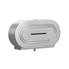 Bradley Twin Jumbo Roll Toilet Tissue Dispenser - Satin Finish 5425