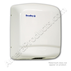 Bradley Aerix Sensor-Operated Steel Cover Hand Dryer 2905-287300 Beautiful white steel cover, Automatically Sensor operated, Easily surface mounted