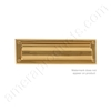 "Brass Accents 3"" x 10"" Mail Slot - PVD ""Lifetime Polished Brass"""