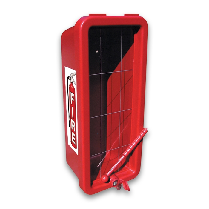 Cato Chief Plastic Fire Extinguisher Cabinet Red Ca 1