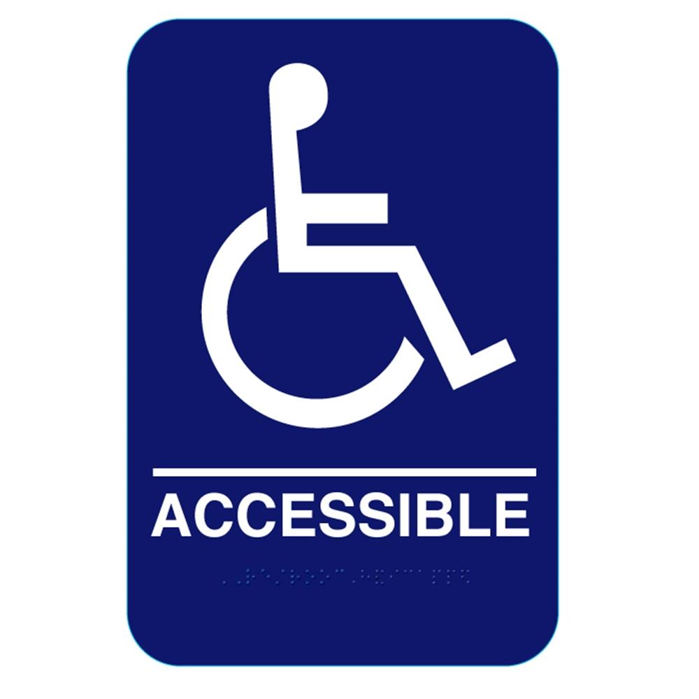 California Approved Ada Handicap Accessible Restroom Sign
