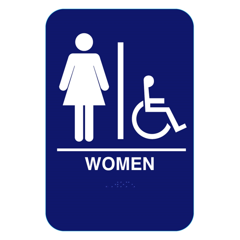 California Approved Women Handicap ADA Restroom Sign #CR ...