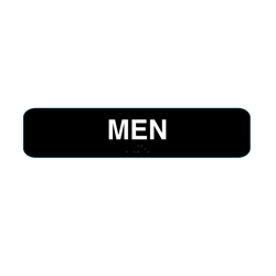 Men Restroom Sign with Braille