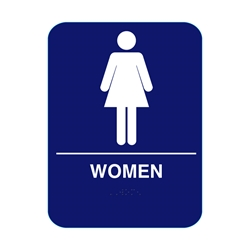 Women Restroom Sign With Braille
