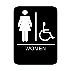 Women Handicap Restroom Sign