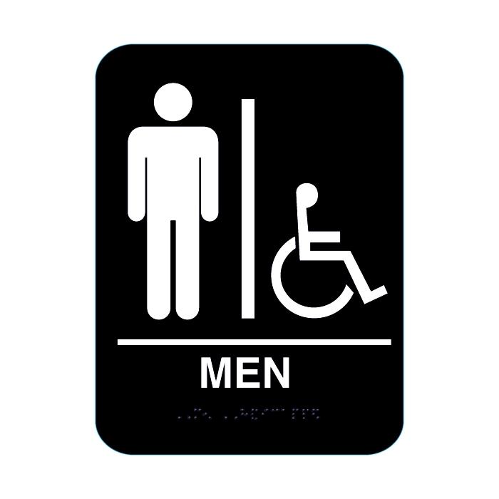Mens Handicap Restroom Sign