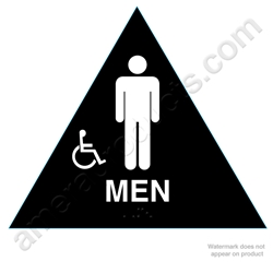 Title 24 Mens Handicap Restroom Sign