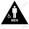 Title 24 Men%27s Handicap Restroom Sign