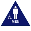 Raised Handicap Men California Title 24 ADA Restroom Sign