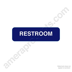 Restroom Sign with Braille