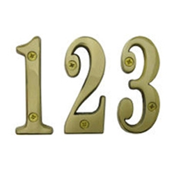 Solid Brass Door Number