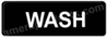 Wash Sign Black 5509