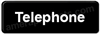 Telephone Sign Black 5525