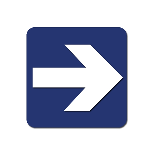 Blue Arrow Sign