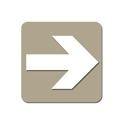Taupe Arrow Sign