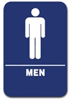 Restroom Sign Men Blue 1501