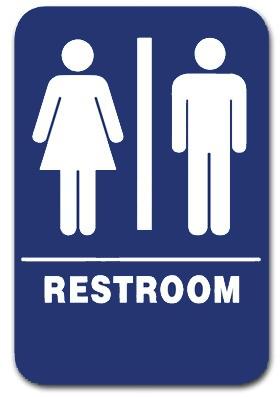 Restroom Sign Unisex Blue 1505 Ep 1505