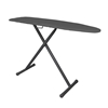 Hospitality 1 IBTBCDSF21 Basic Full Size Ironing Board - Charcoal Cover / Black Legs