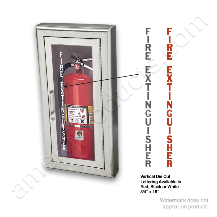 Semi Recessed Stainless Steel Fire Extinguisher Cabinet