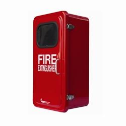 Fire extinguisher cabinets for Salt air resistant door hardware