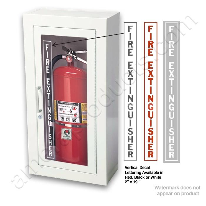 Home U003e Fire Extinguisher Cabinets U003e Surface Mount U003e. Ambassador Steel  Cabinet · Optional Vertical Decal ...