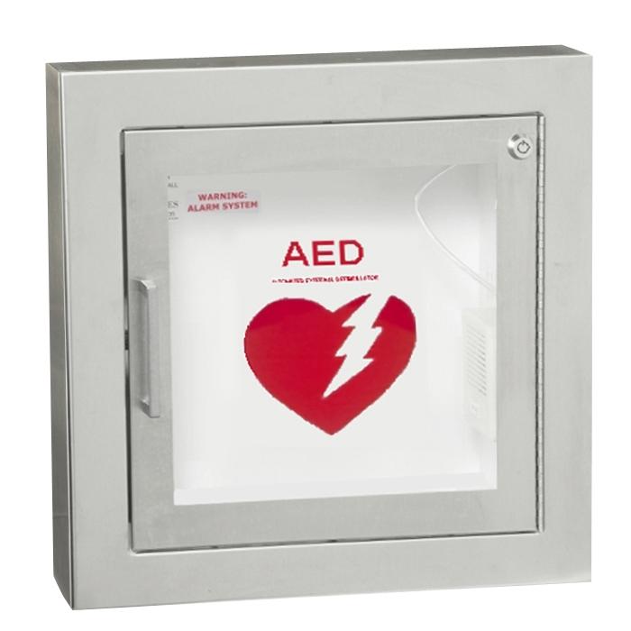 Semi Recessed   AED Cabinet ...