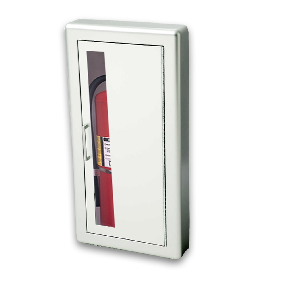 JL Academy Aluminum V SemiRecessed Lbs Fire - Semi recessed fire extinguisher cabinet