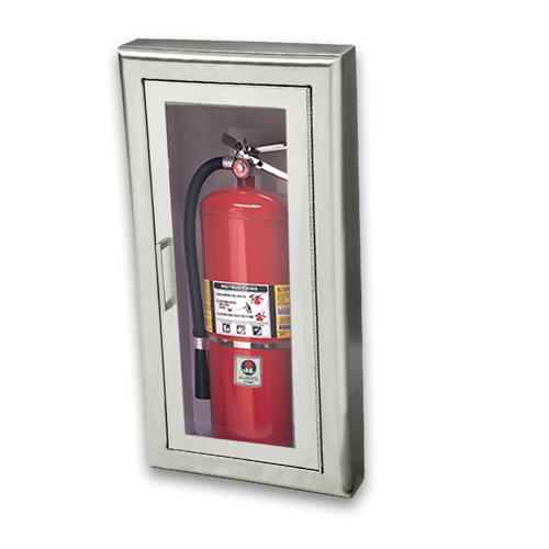 JL Cosmopolitan Stainless Steel F SemiRecessed Lbs Fire - Semi recessed fire extinguisher cabinet